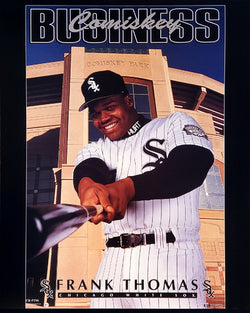"Frank Thomas ""Comiskey Business"" Chicago White Sox Premium 16x20 Poster - Costacos Brothers 1995"