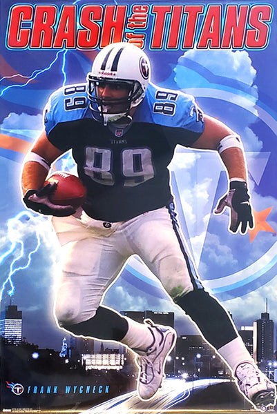 "Frank Wycheck ""Crash of the Titans"" Tennessee Titans NFL Action Poster - Costacos 2000"