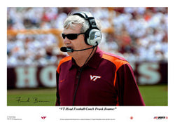 Virginia Tech Head Coach Frank Beamer Poster - USA Sports Inc.