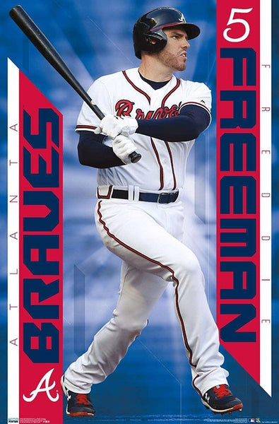 "Freddie Freeman ""Slugger"" Atlanta Braves MLB Baseball Poster - Trends International 2020"