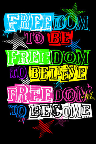 Freedom to Be Inspirational Poster - Slingshot Publishing