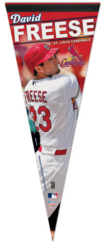 "David Freese ""Action"" Premium Felt Collector's Pennant - Wincraft Inc."