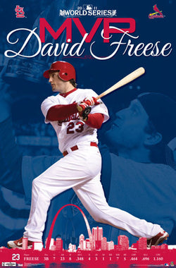 David Freese 2011 World Series MVP St. Louis Cardinals Commemorative Poster - Trends Int'l.