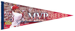 "David Freese ""World Series MVP"" Premium Felt Pennant - Wincraft 2011"