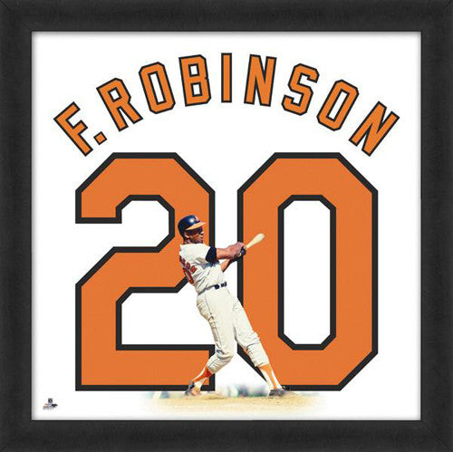 "Frank Robinson ""Number 20"" Baltimore Orioles FRAMED 20x20 UNIFRAME PRINT - Photofile"