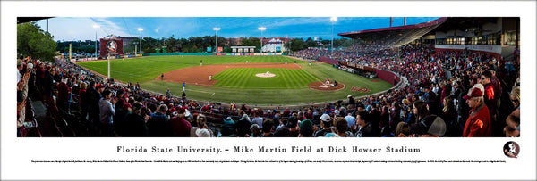 Florida State Seminoles NCAA Baseball Dick Howser Stadium Panoramic Poster Print - Blakeway Worldwide