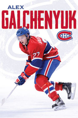 "Alex Galchenyuk ""Young Gun"" Montreal Canadiens NHL Action Poster - Costacos 2013"