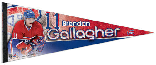 "Brendan Gallagher ""Signature"" Montreal Canadiens Premium Felt Collector's Pennant - Wincraft 2013"