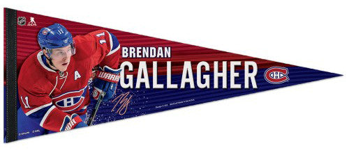 Brendan Gallagher Montreal Canadiens Signature Series  NHL Hockey Premium Felt Pennant - Wincraft