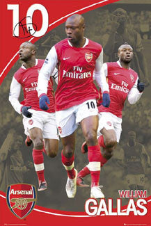 "William Gallas ""Triple Action"" Arsenal FC Poster - GB Eye 2008"
