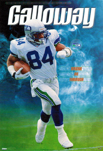 "Joey Galloway ""Break On Through"" Seattle Seahawks Poster - Costacos 1999"