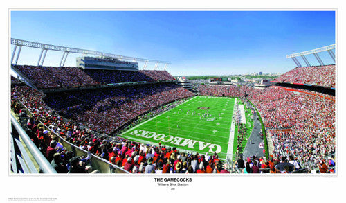 "South Carolina Football ""The Gamecocks"" Williams-Brice Stadium (2007) Panoramic Print"