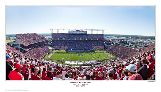 "South Carolina Football ""Gamecocks Turn Tide"" (10/9/2010) Panoramic Poster Print - Sport Photos Inc."