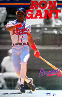 "Ron Gant ""Slugger"" Atlanta Braves Poster - Starline 1991"