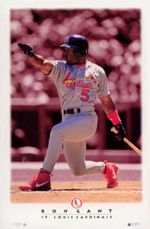 "Ron Gant ""Diamond Classic"" St. Louis Cardinals Poster - Costacos Brothers 1996"