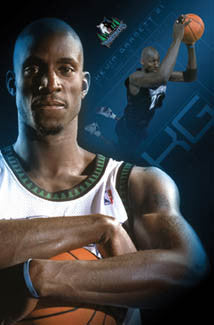 "Kevin Garnett ""The Man"" Minnesota Timberwolves Poster - Costacos 2005"