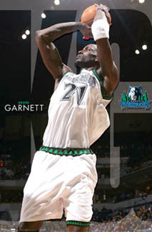 "Kevin Garnett ""Tower of Power"" Minnesota Timberwolves Poster - Costacos 2007"