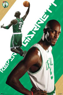 "Kevin Garnett ""Celtics Star"" Boston Celtics NBA Action Poster - Costacos 2007"