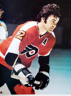 Gary Dornhoefer Philadelphia Flyers NHL Portnoy Series Poster - Sports Posters Inc. 1974
