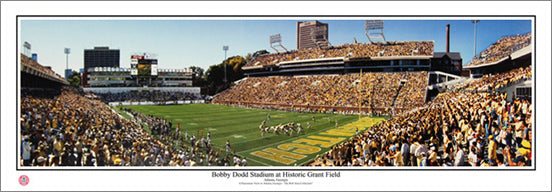 Georgia Tech Yellow Jackets Bobby Dodd Stadium Panoramic Poster Print - Everlasting Images