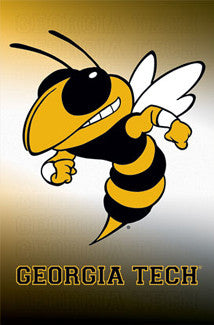 Georgia Tech Yellow Jackets Official Team Logo Poster - Costacos Sports