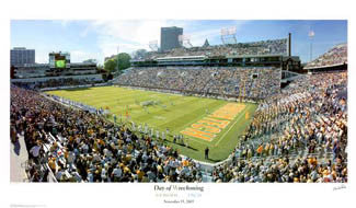 Georgia Tech Football 'Day of Wreckoning' Panoramic Stadium Poster Print - SG 2003