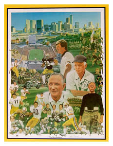 "Georgia Tech Yellow Jackets Football ""The Tech Tradition"" Premium Poster Print - P. Miller 1984"