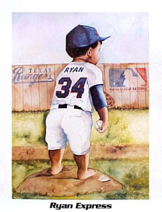 "Baby Nolan Ryan ""Ryan Express"" Poster - Kenneth Gatewood"