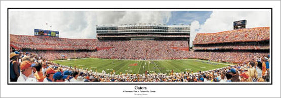 "Florida Gators Football ""Gators"" Panoramic Stadium Poster Print - Everlasting Images"