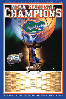 Florida Gators Basketball 2006 NCAA National Champions Commemorative Poster - Action Images