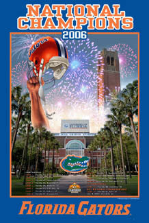 Florida Gators Football 2006 NCAA Football National Champions Poster - Action Images
