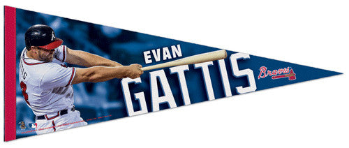 "Evan Gattis ""Superstar"" Atlanta Braves Premium Felt Collector's Pennant - Wincraft 2013"