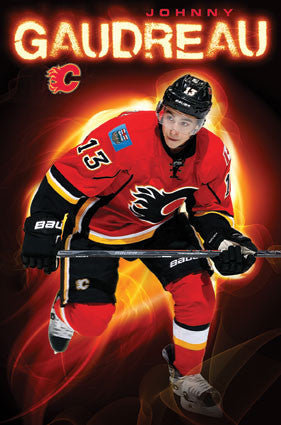 "Johnny Gaudreau ""On Fire"" Calgary Flames NHL Action Wall Poster - Trends International 2016"