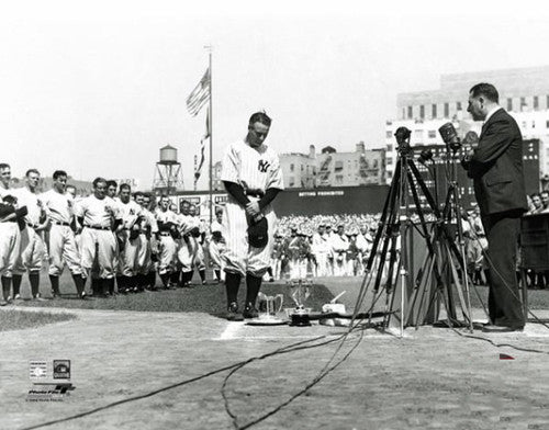 "Lou Gehrig ""Farewell"" (July 4, 1939 at Yankee Stadium) Premium Poster Print - Photofile Inc."