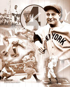 "Lou Gehrig ""#4 Forever"" New York Yankees Premium Poster Print - Photofile Inc."