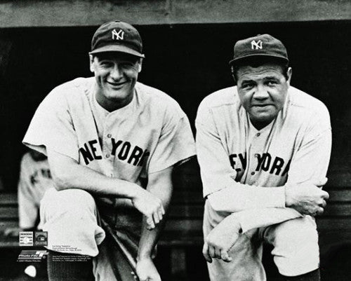 "Lou Gehrig and Babe Ruth ""Dugout Steps"" (c.1930) New York Yankees Premium Poster Print - Photofile"