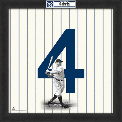 "Lou Gehrig ""Number 4"" New York Yankees MLB FRAMED 20x20 UNIFRAME PRINT - Photofile"