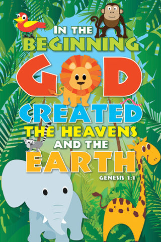Creation Jungle (Genesis 1:1) Inspirational Poster - Slingshot Publishing