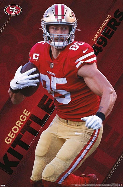 "George Kittle ""Superstar"" San Francisco 49ers NFL Football Poster - Trends International"