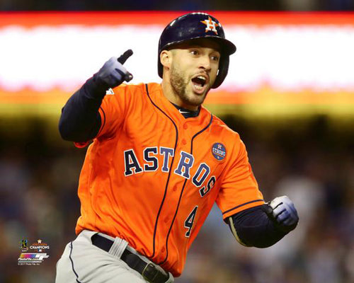 "George Springer ""Game 7 Blast"" Houston Astros Premium Poster Print - Photofile 16x20"