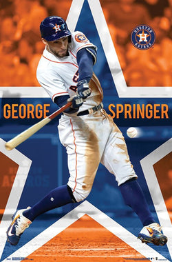 "George Springer ""Star Bomb"" Houston Astros MLB Baseball Poster - Trends International"