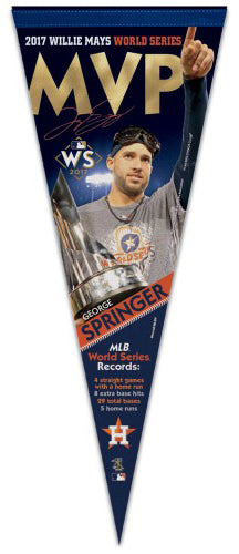 George Springer Houston Astros 2017 World Series MVP Premium Felt Collector's Pennant - Wincraft