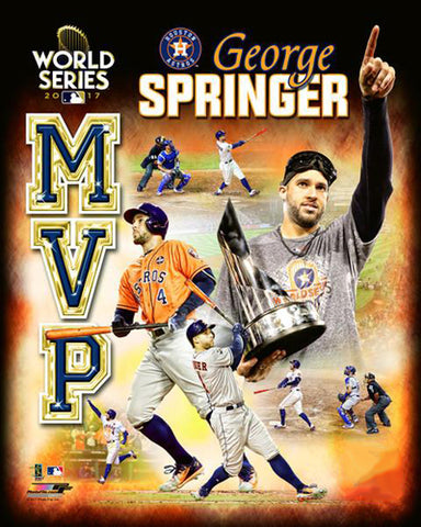 George Springer 2017 World Series MVP Houston Astros Premium Poster Print - Photofile 16x20