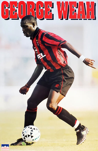George Weah A.C. Milan Soccer Action Poster - Starline Inc. 1996