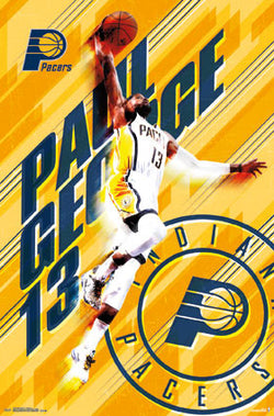 "Paul George ""Soaring"" Indiana Pacers NBA Basketball Action Poster - Trends 2016"