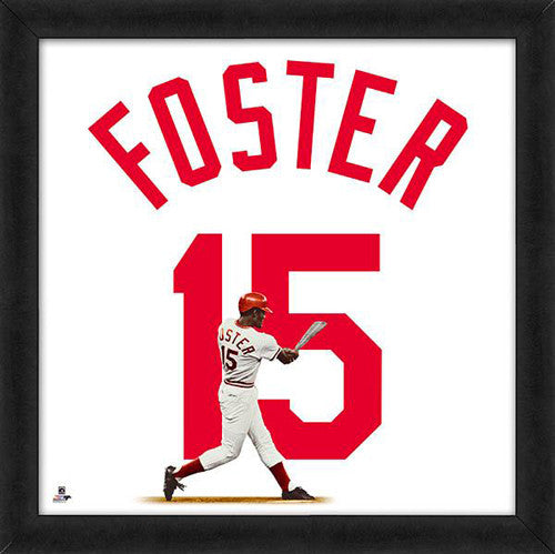 "George Foster ""Number 15"" Cincinnati Reds MLB FRAMED 20x20 UNIFRAME PRINT - Photofile"