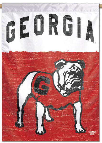 "Georgia Bulldogs ""Standing Uga"" NCAA College Vault Series 1960s-Style Official NCAA Premium 28x40 Wall Banner - Wincraft Inc."