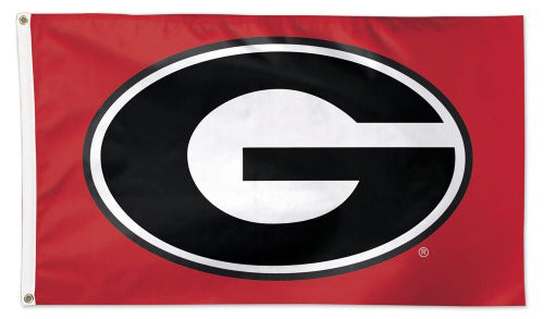University of Georgia Bulldogs Official NCAA Team Logo Deluxe-Edition 3'x5' Flag - Wincraft Inc.