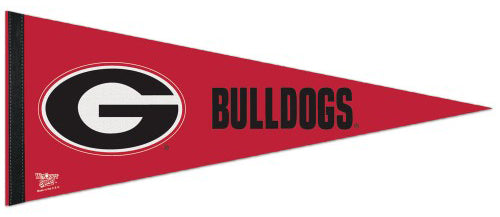 University of Georgia Bulldogs Official NCAA Team Logo-Style Premium Felt Pennant - Wincraft Inc.