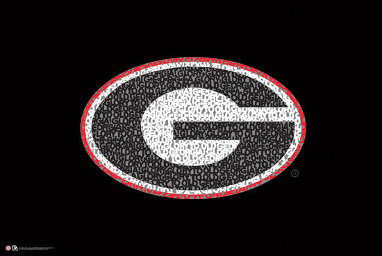 "Georgia Bulldogs ""Glory Glory"" Fight Song Poster - LA Pop Inc."